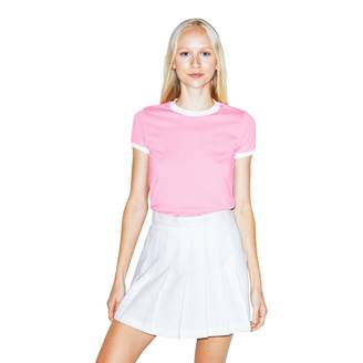 American Apparel Women's 50/50 Classic Ringer Short Sleeve T-Shirt