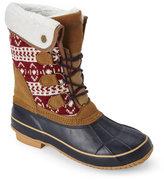 Khombu Red & Navy Maya Snow Boots