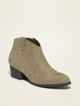 Old Navy Faux-Suede Ankle Boots for Girls