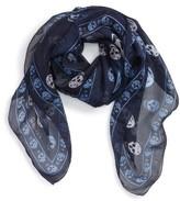 Alexander McQueen Women's Skull Print Silk Scarf