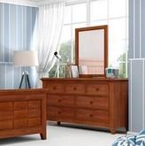 Three Posts Poulan 7 Drawer Dresser with Mirror Baby & Kids Color: Warm Cherry