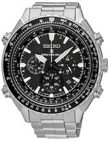 Seiko Ssg001p1 Prospex Chronograph Radio Synchronised Solar Bracelet Strap Watch, Silver/black