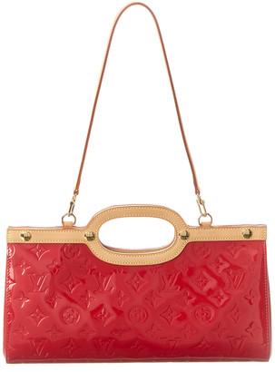 Louis Vuitton Red Monogram Vernis Leather Roxbury