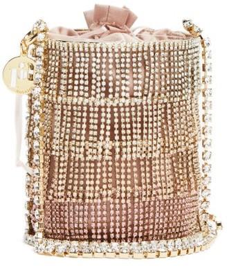 Rosantica Ginger Crystal-fringe Satin Cross-body Bag - Pink Multi