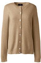 Lands' End Women's Cashmere Cardigan Sweater-Black