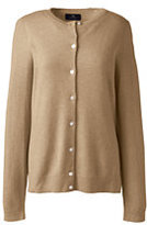 Lands' End Women's Tall Cashmere Cardigan Sweater-Emerald Gulf