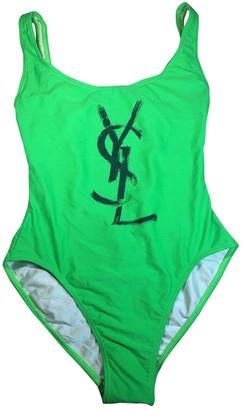 Saint Laurent Green Lycra Swimwear
