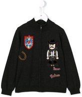 Dolce & Gabbana cowboy patch zip cardigan - kids - Virgin Wool - 2 yrs