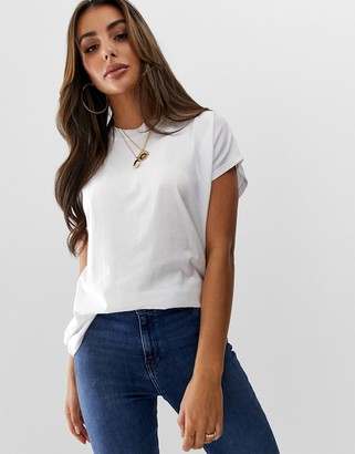 Asos Design DESIGN oversized cap sleeve t-shirt in white