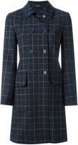 Theory checked coat - women - Polyester/Polyurethane/Spandex/Elastane/Virgin Wool - M