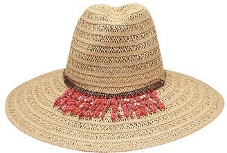Ale By Alessandra Women's Garapoba Ultralight Lace Straw Sun Hat with Beaded