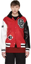 Opening Ceremony Red Limited Edition Hooded Varsity Bomber Jacket