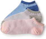 3-Pack Heathered Ankle Socks
