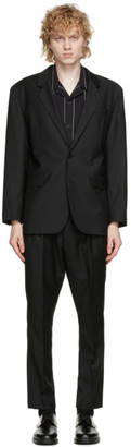 HUGO BOSS Black Wool Ulan and Farlys Oversize Suit
