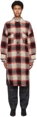 Etoile Isabel Marant Red Gabrion Coat