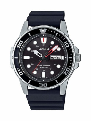 Casio Men's Solar Powered Stainless Steel Quartz Resin Strap
