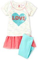 Flapdoodles Toddler Girls) 2-Piece Love Top & Leggings Set