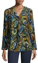 Lafayette 148 New York Libby Printed Silk Blouse