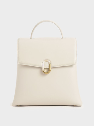 Charles & Keith Stone-Embellished Backpack