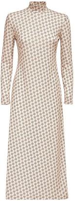 Rokh Monogram Jersey Midi Dress
