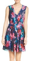 Betsey Johnson Women's Pleated Fit & Flare Dress