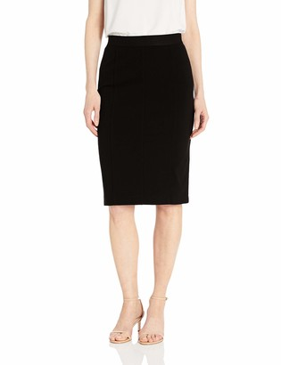 Lark & Ro Amazon Brand Women's Elastic Waist Pencil Skirt with Princess Seams