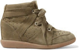 Isabel Marant The Bobby perforated suede wedge sneakers