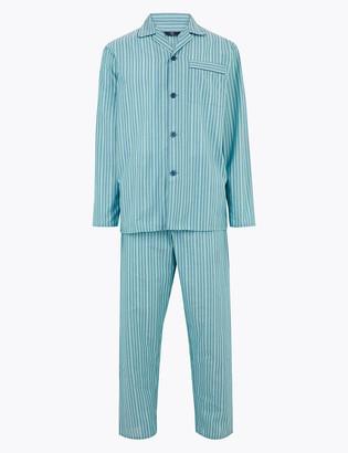 Marks and Spencer Cotton Striped Pyjama Set