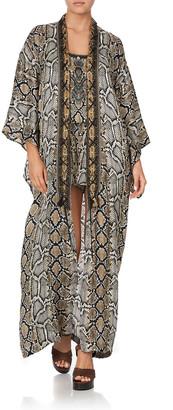 Camilla Lace-Up Embellished Coverup Kimono Coat