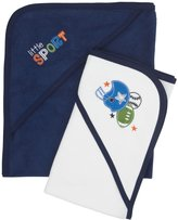 Gerber 2-Pk Hooded Towels - Blue-One Size