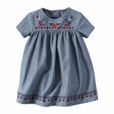 Carter's 2-pc. Short-Sleeve Embroidered Chambray Dress - Baby Girls newborn-24m