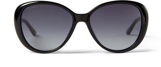 Jimmy Choo AMIRA Black Sunglasses with Grey Shaded Lenses and Choo logo