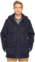 Perry Ellis Poly Zip Front with Snap Placket & Removable Hood