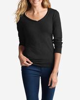 Eddie Bauer Women's Essential Slub Long-Sleeve V-Neck T-Shirt