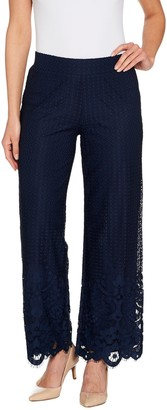 Isaac Mizrahi Live! Regular Engineered Lace Wide Leg Pants