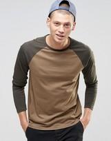 Asos Long Sleeve T-shirt With Contrast Raglan