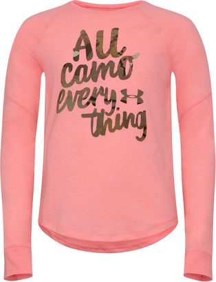 Under Armour Girls' UA All Camo Everything T-Shirt