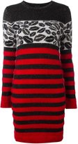 Just Cavalli striped fitted dress