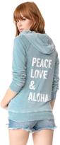Spiritual Gangster Peace Love & Aloha Dharma Zip Hoodie