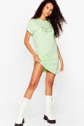 Nasty Gal Womens Mother Earth Graphic Tee Dress - Pistachio
