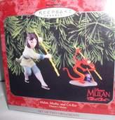 "Hallmark Keepsake Ornament 1998 ""Mulan, Mushu, And Cri-Kee"