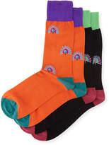Punto Two-Pair Peacock-Print Socks
