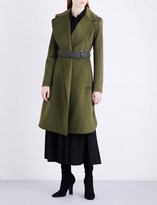 Sportmax Ordito belted brushed-wool coat