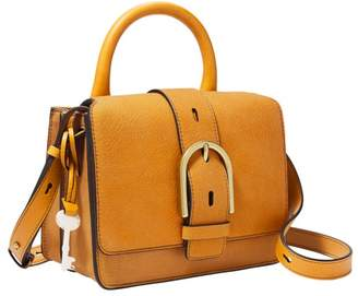 Fossil Wiley Top Handle Handbags Amber Gold