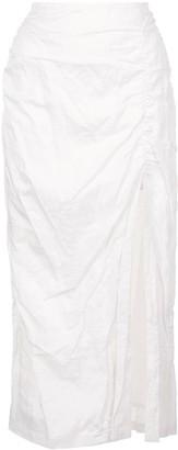 Jason Wu Collection Gathered Midi Skirt