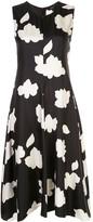 Theory Nophella floral print silk dress