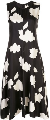 Theory Nophella floral print silk dress
