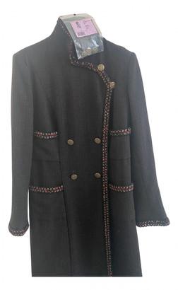 Chanel Brown Wool Dresses