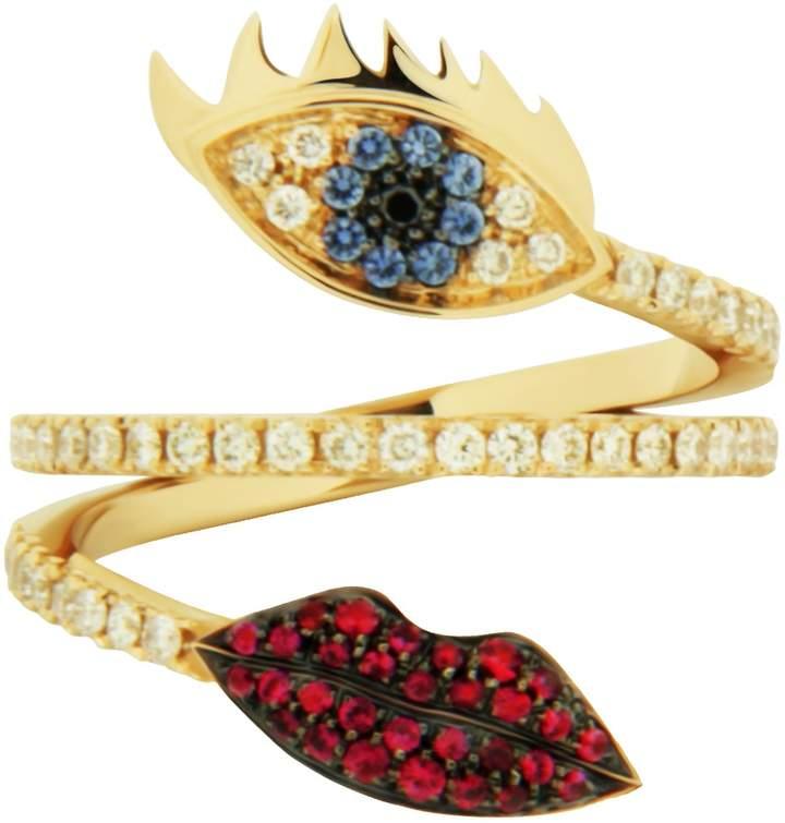 Delfina Delettrez Marry Me Eye Lips Ring
