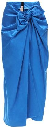 Marni Draped Duchesse Skirt W/ Bow